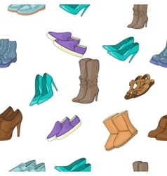 Shoes pattern cartoon style vector
