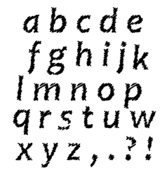 Sketch alphabet vector