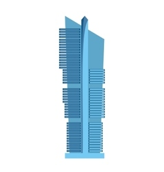Skyscraper icon isolated on white background vector
