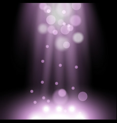 Spotlight light effect with sparks purple color vector