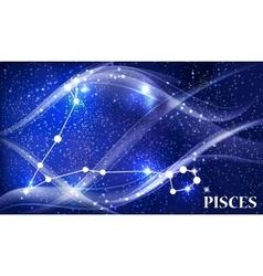 Symbol pisces zodiac sign vector