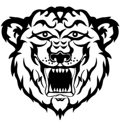 tiger head black and white tatto vector image
