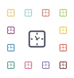 time flat icons set vector image