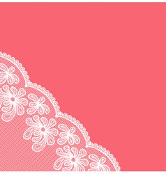 White lacy corner vector