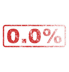 00 percent rubber stamp vector
