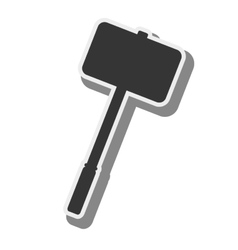 Hammer medieval weapon vector