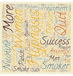 Hypnosis Helps Men Quit text background wordcloud vector image