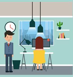 businessman briefcase vector image