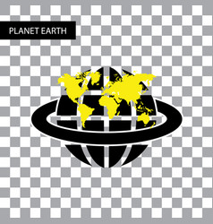 Planet earth symbol vector