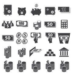 Money set icon vector