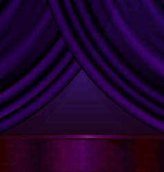 Empty violet room vector