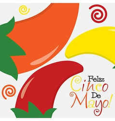 Cinco de mayo happy 5th of may card in format vector