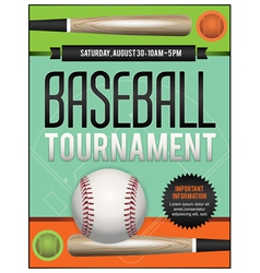 Baseball tourney flyer 2 vector
