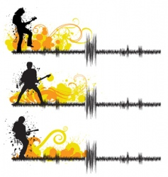 Guitar players vector