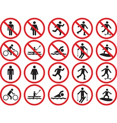 Pictogram people signs vector