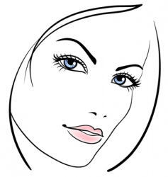 Beauty girl face vector icon vector