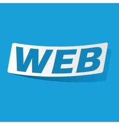 WEB sticker vector image