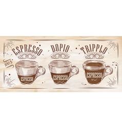Poster espresso kraft vector image