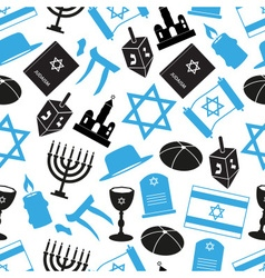 Judaism religion symbols set of icons seamless vector
