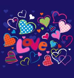 cute love design elements vector image