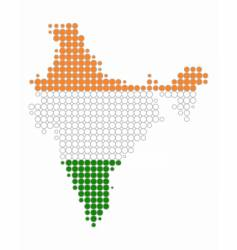 Map and flag of india vector