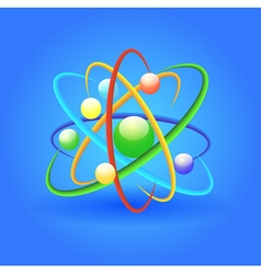 Background with bright shiny atom vector