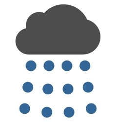 Rain cloud flat symbol vector
