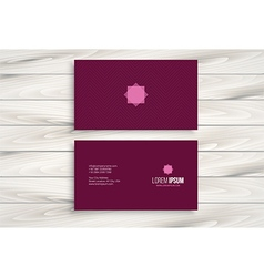 Minimal modern business card design vector