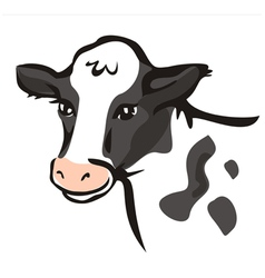 Smiling cow portrait vector