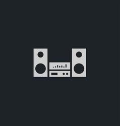 Audio sistem icon simple vector