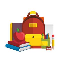 Back to school set supplies vector