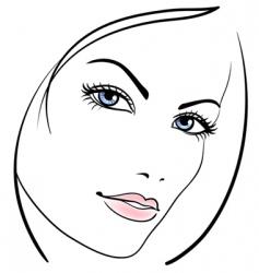 beauty girl face vector icon vector image