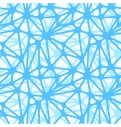 Blue neural net seamless pattern vector image vector image