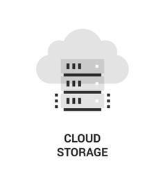 cloud storage icon vector image vector image