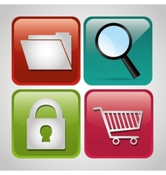 Digital marketing and sales g vector