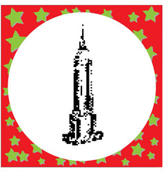 Empire state building in new york city vector