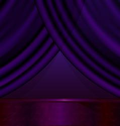 empty violet room vector image vector image