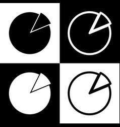 finance graph sign black and white icons vector image vector image