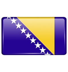 Flags Bosnia and Herzegovina in the form of a vector image vector image