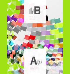 Geometrical abstract background with infographics vector
