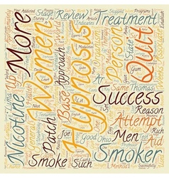 Hypnosis helps men quit text background wordcloud vector