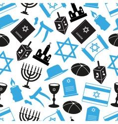 Judaism religion symbols set of icons seamless vector