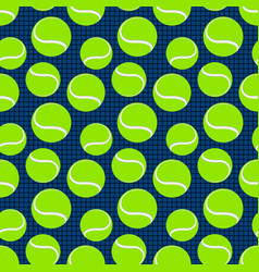 Seamless sport pattern with tennis balls vector