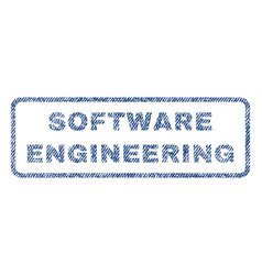 Software engineering textile stamp vector