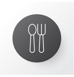 Spoon with fork icon symbol premium quality vector