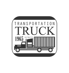 Square frame heavy trucks company club logo black vector