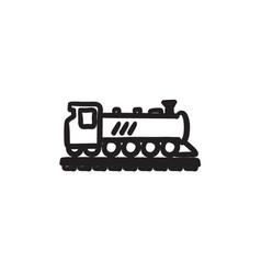 Train sketch icon vector
