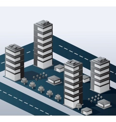 Urban area vector image vector image