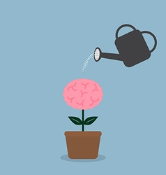 Watering brain plant vector