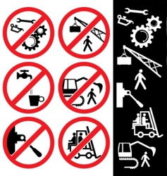 icons for safety vector image